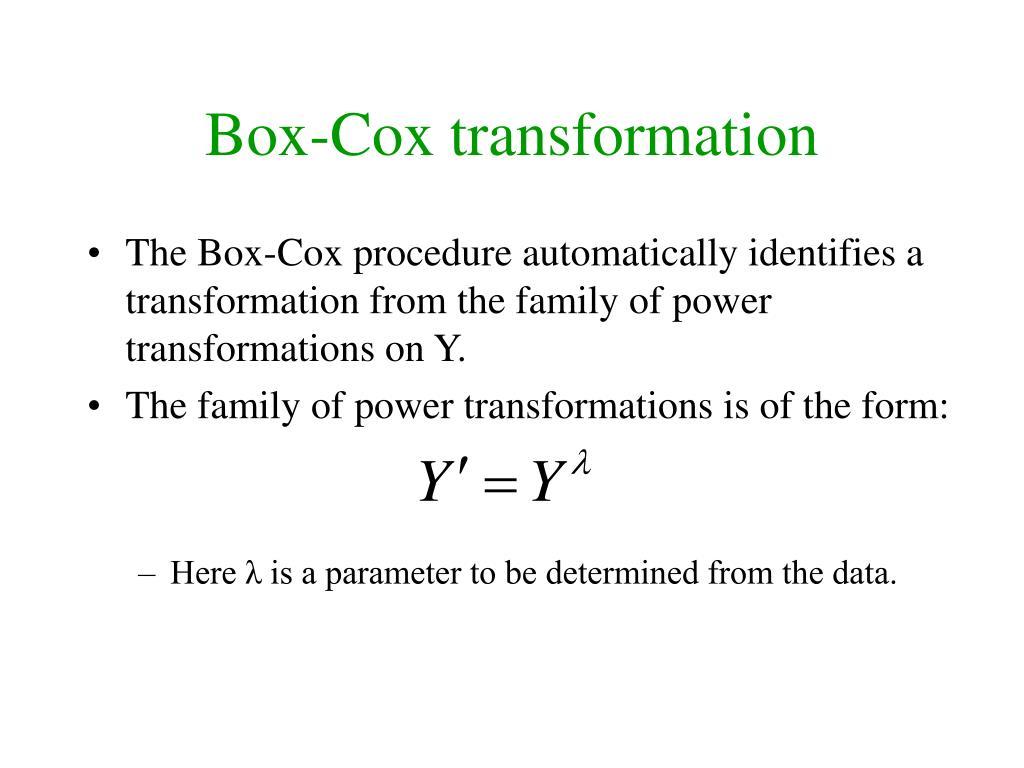 Box-Cox transformation