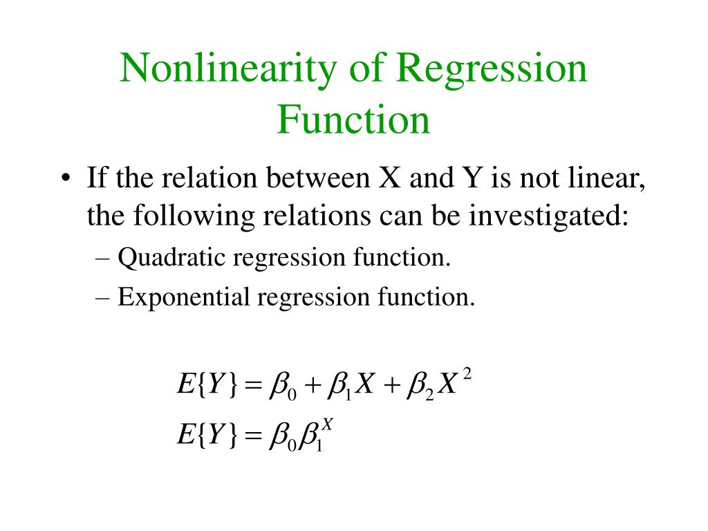 Nonlinearity of Regression Function