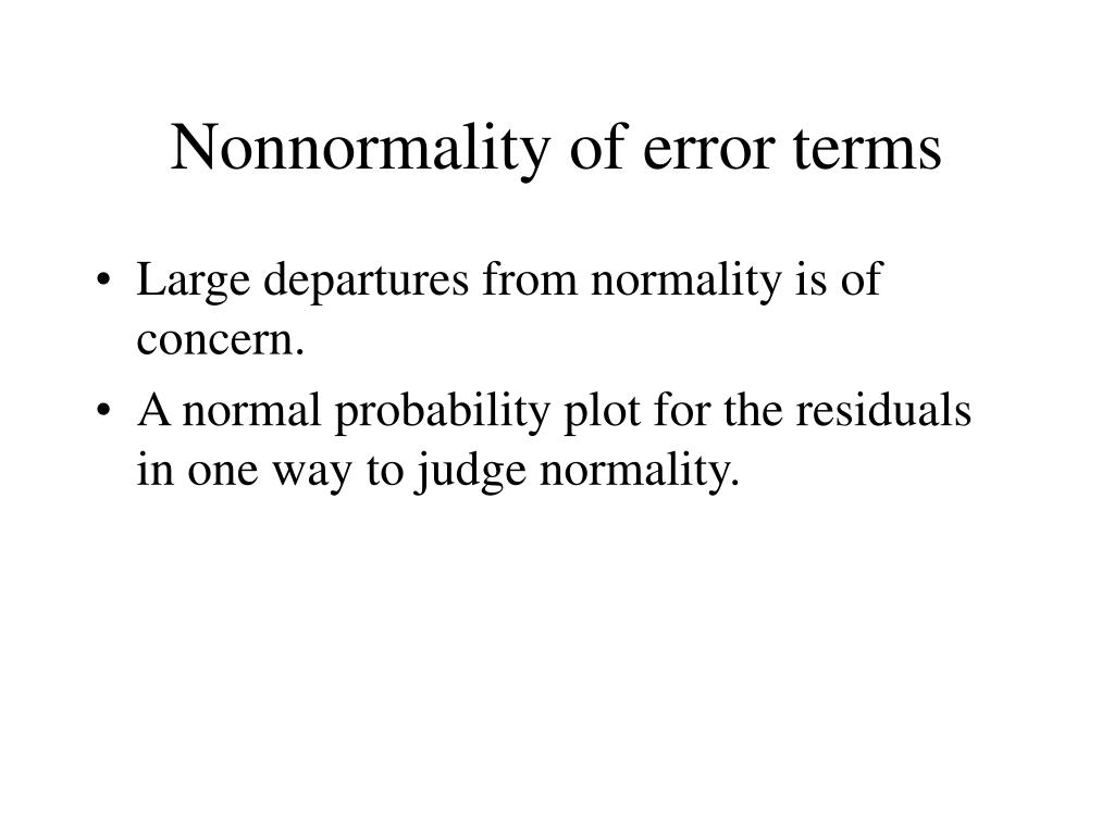 Nonnormality of error terms