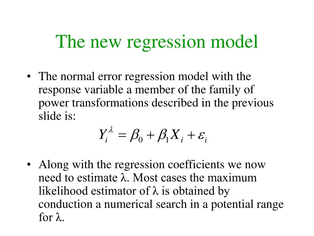 The new regression model