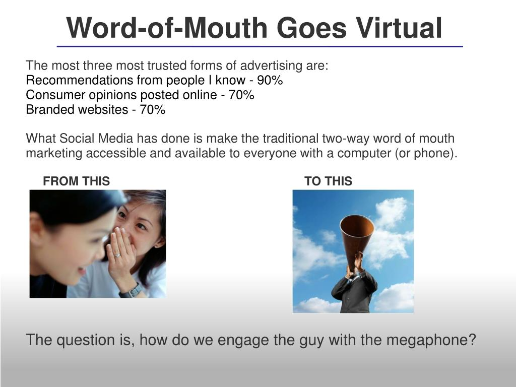 Word-of-Mouth Goes Virtual