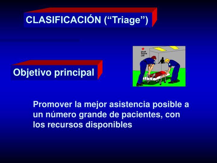 """CLASIFICACIÓN (""""Triage"""")"""