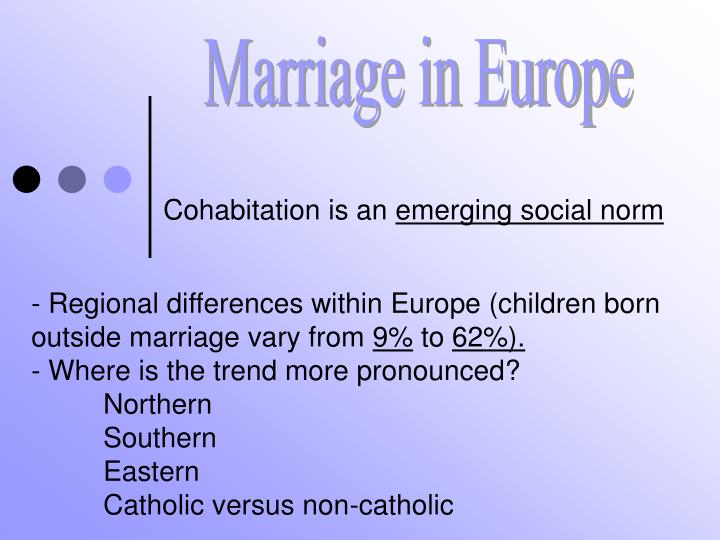 Cohabitation is an emerging social norm