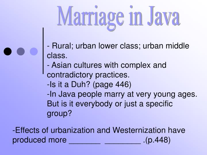 Marriage in Java