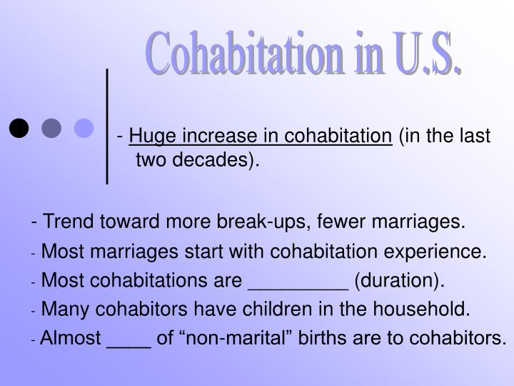 Cohabitation in U.S.