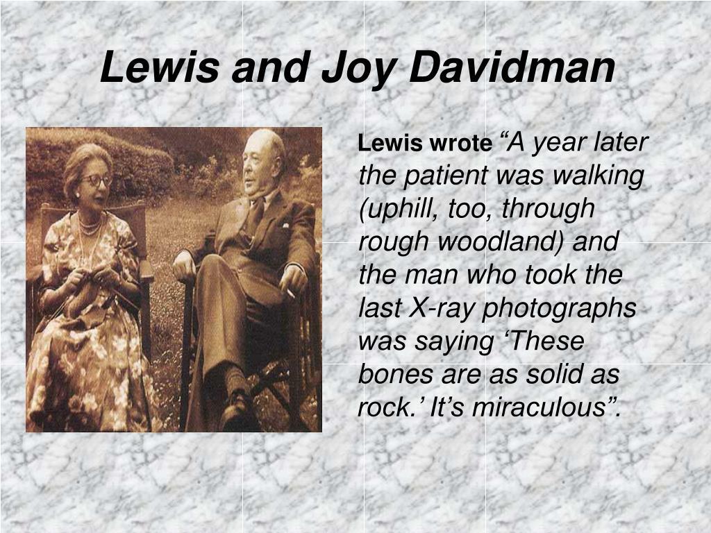 Lewis and Joy Davidman
