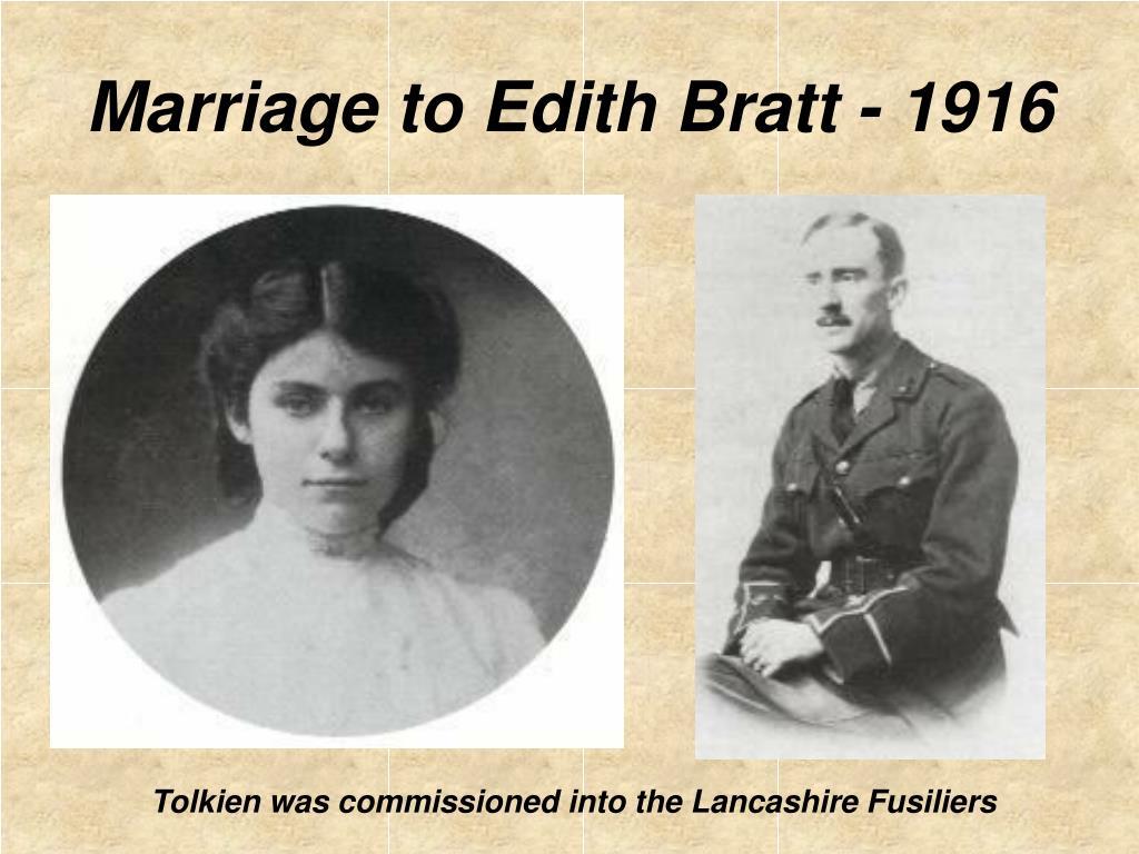 Marriage to Edith Bratt - 1916