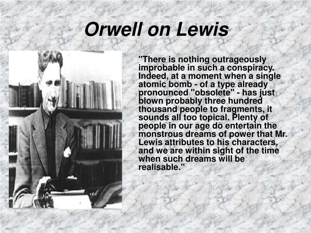 Orwell on Lewis