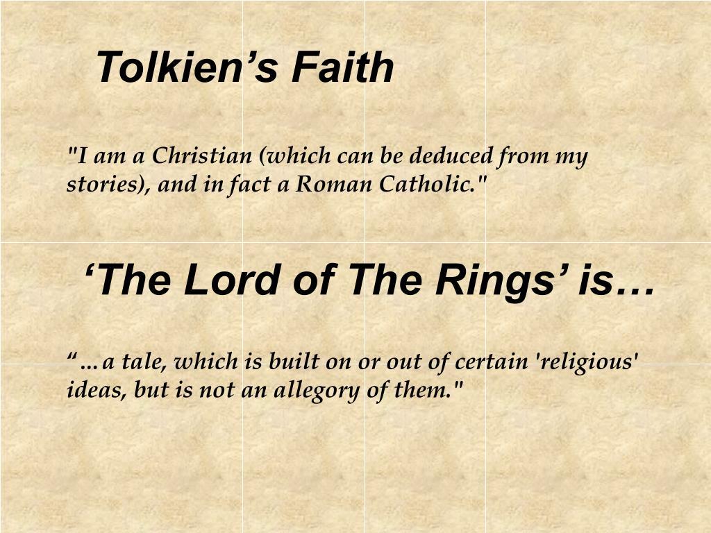 Tolkien's Faith
