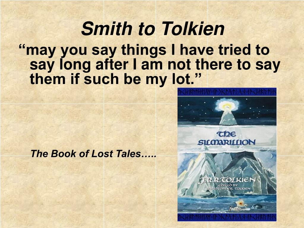 Smith to Tolkien