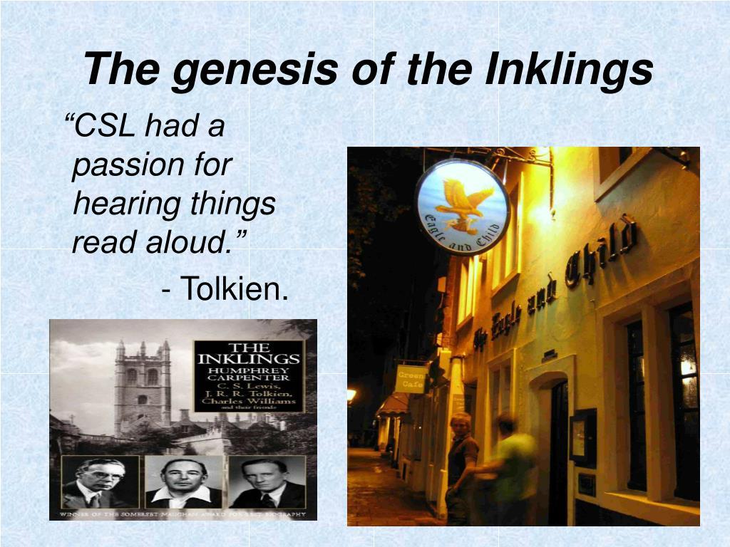 The genesis of the Inklings