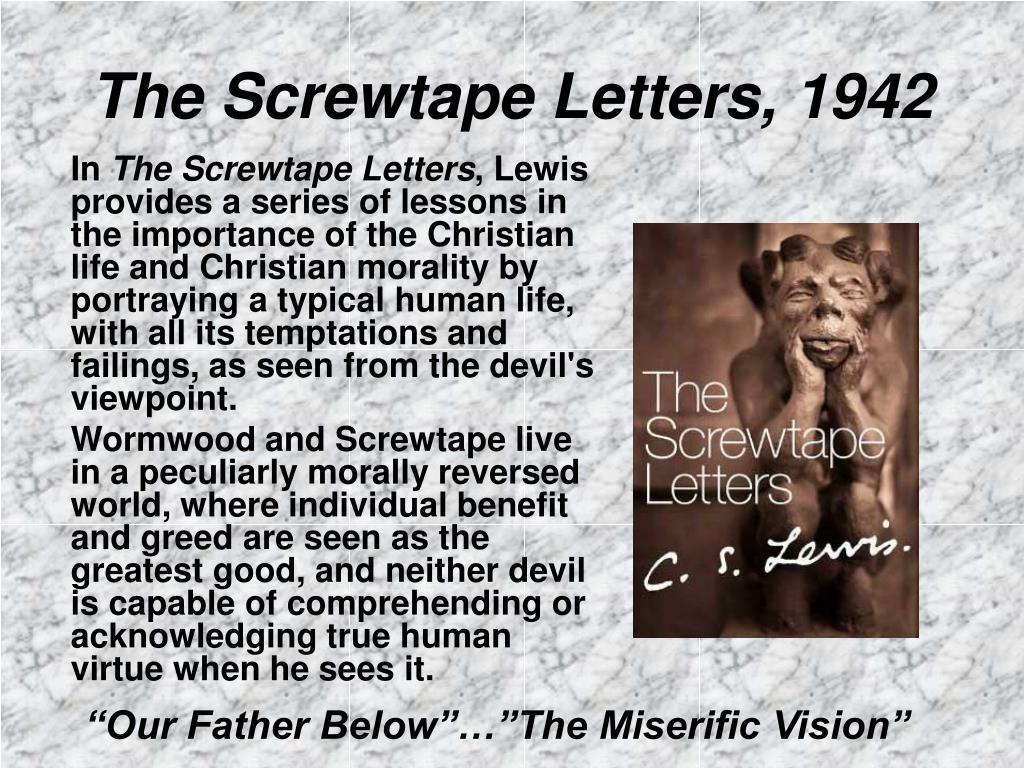 The Screwtape Letters, 1942