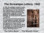 the screwtape letters 1942