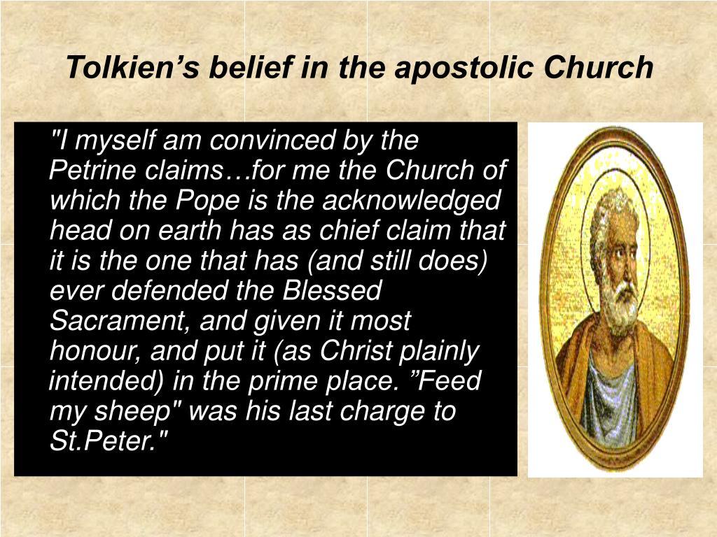 Tolkien's belief in the apostolic Church