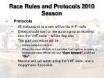 race rules and protocols 2010 season9