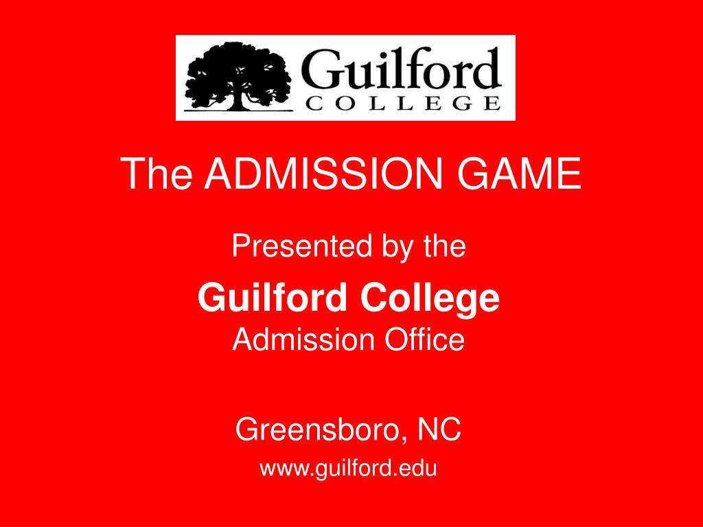 The ADMISSION GAME