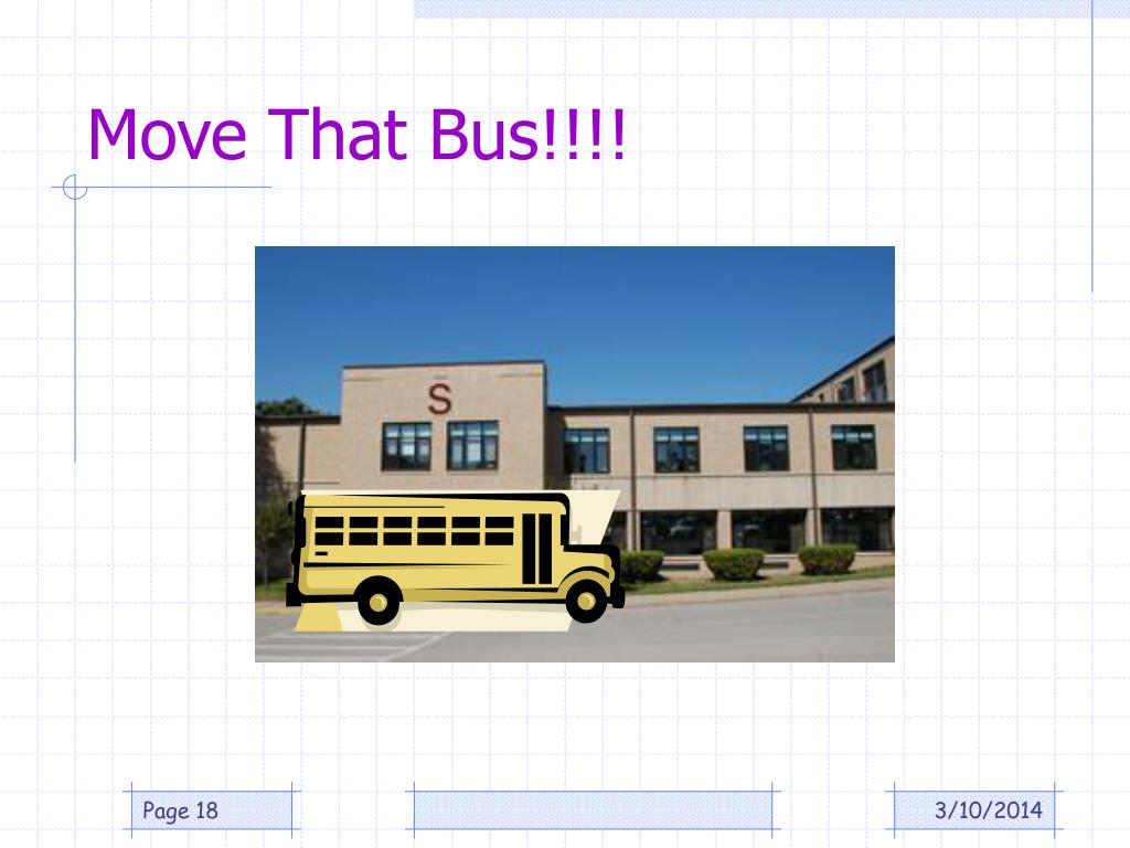 Move That Bus!!!!