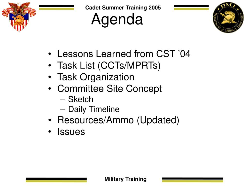 Lessons Learned from CST '04