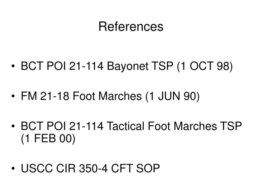 BCT POI 21-114 Bayonet TSP (1 OCT 98)