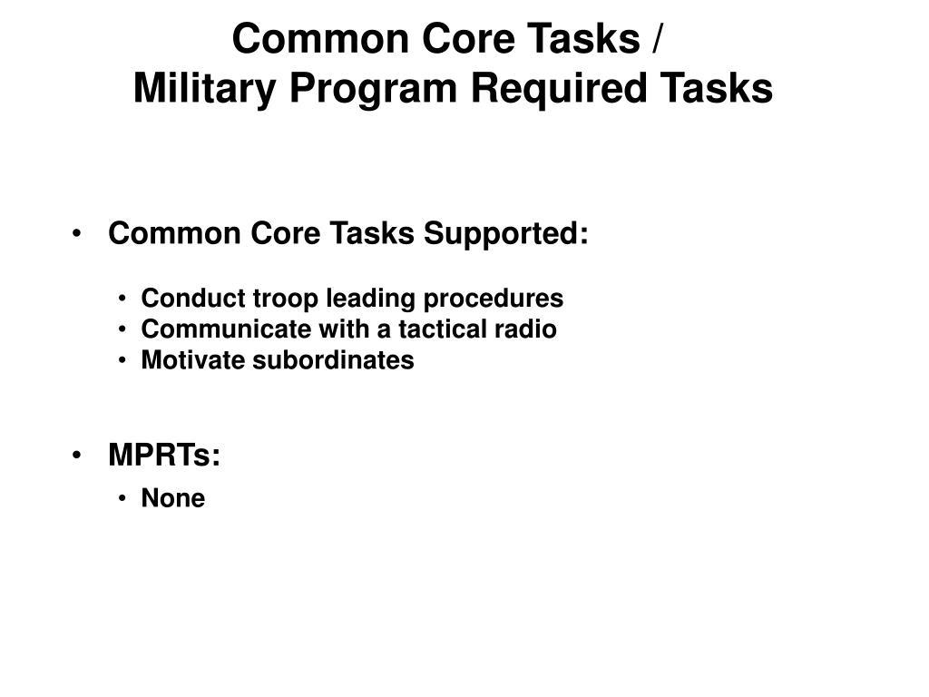 Common Core Tasks /