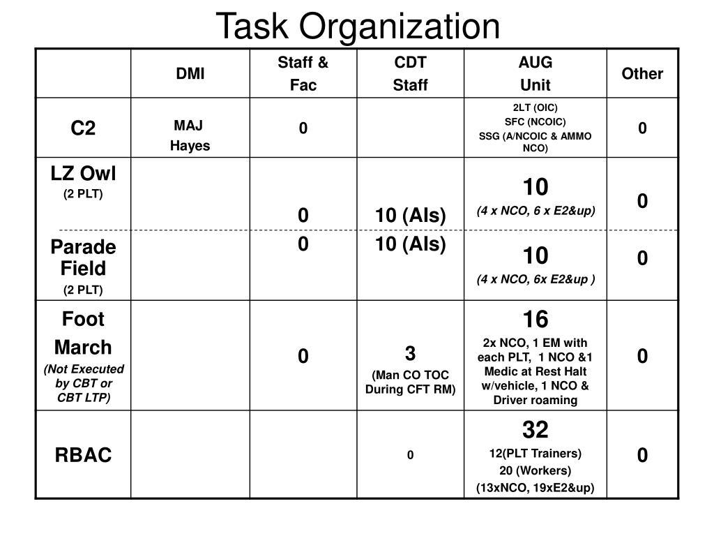 Task Organization