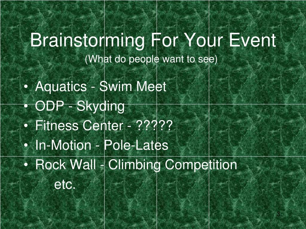 Brainstorming For Your Event