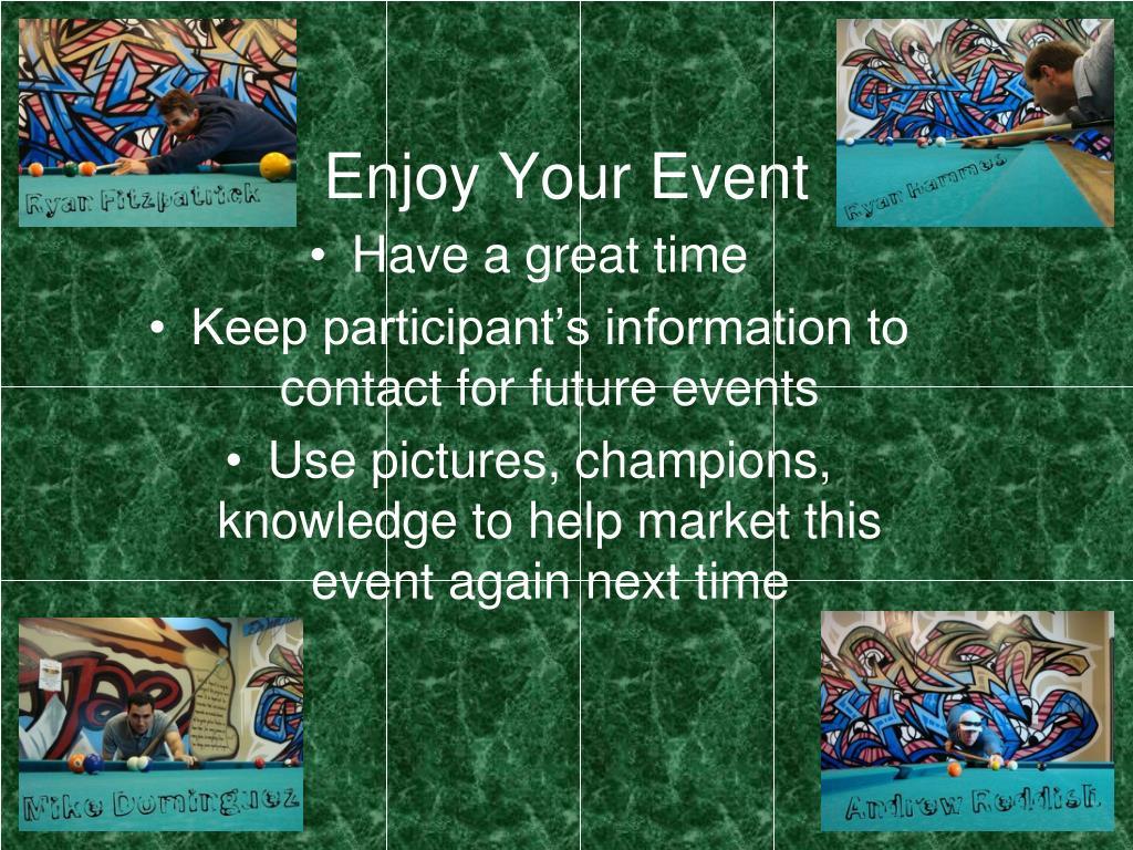 Enjoy Your Event