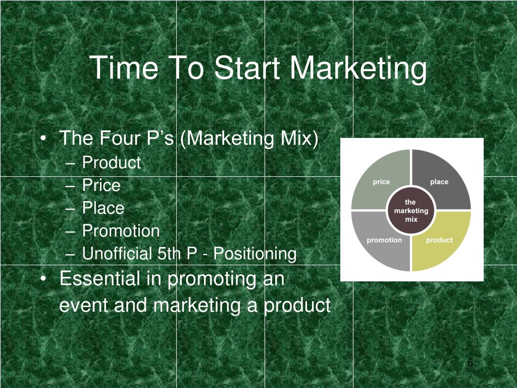 Time To Start Marketing