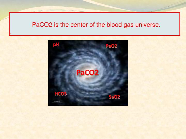 PaCO2 is the center of the blood gas universe.