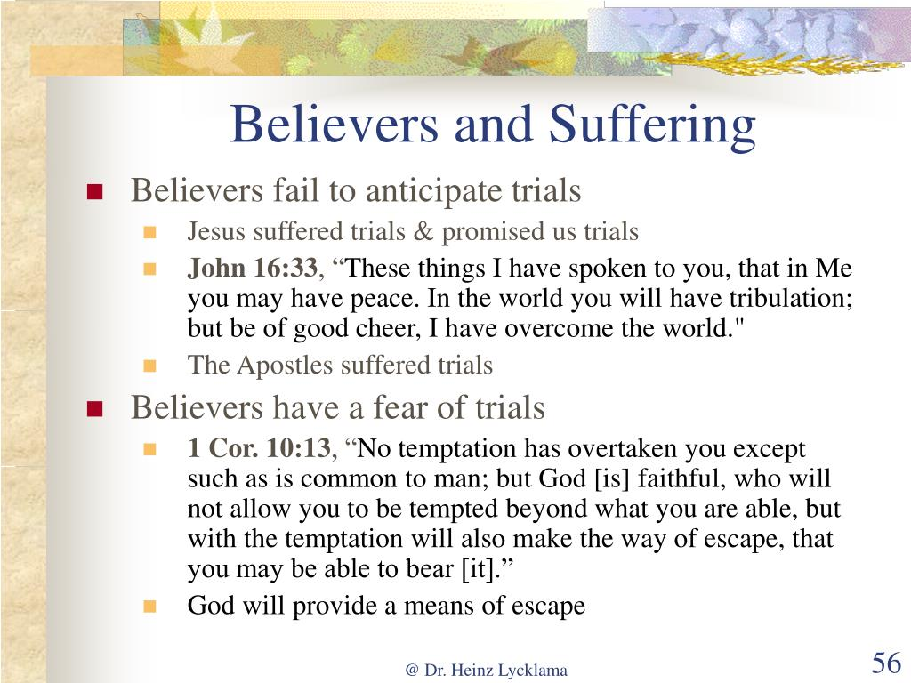 Believers and Suffering