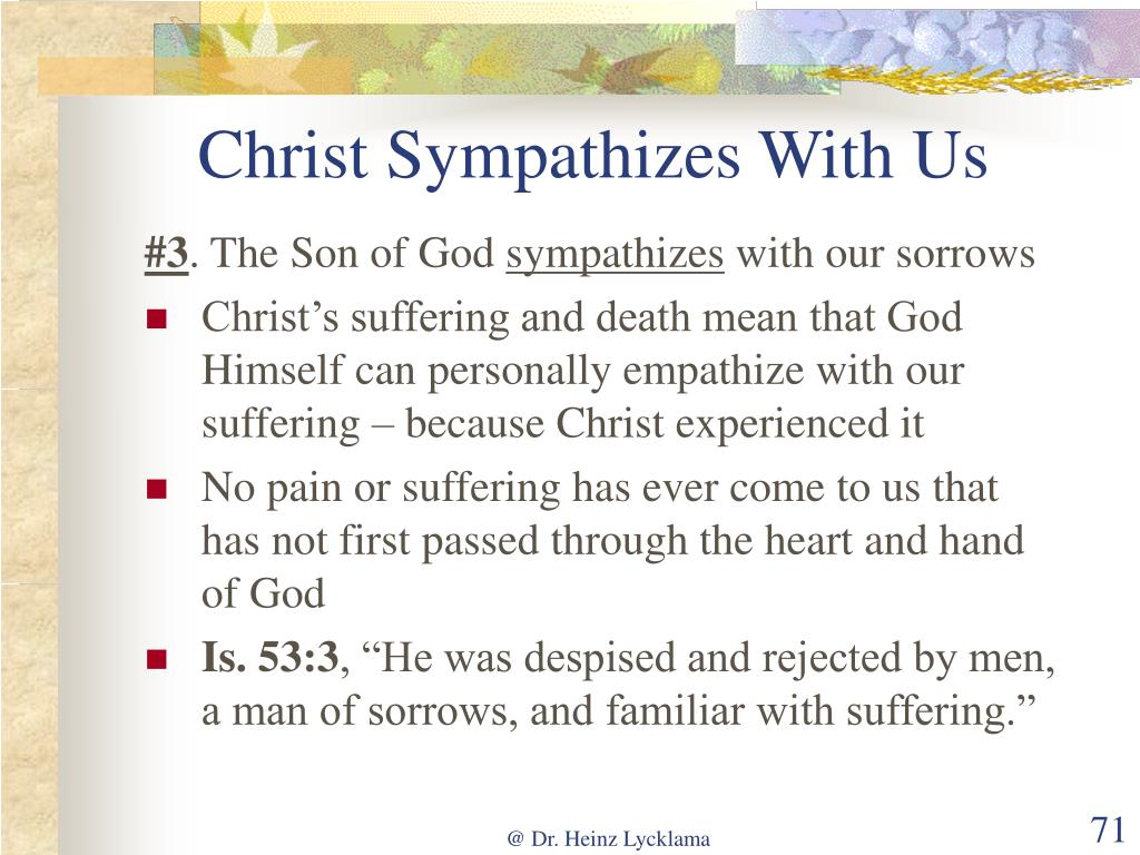 Christ Sympathizes With Us