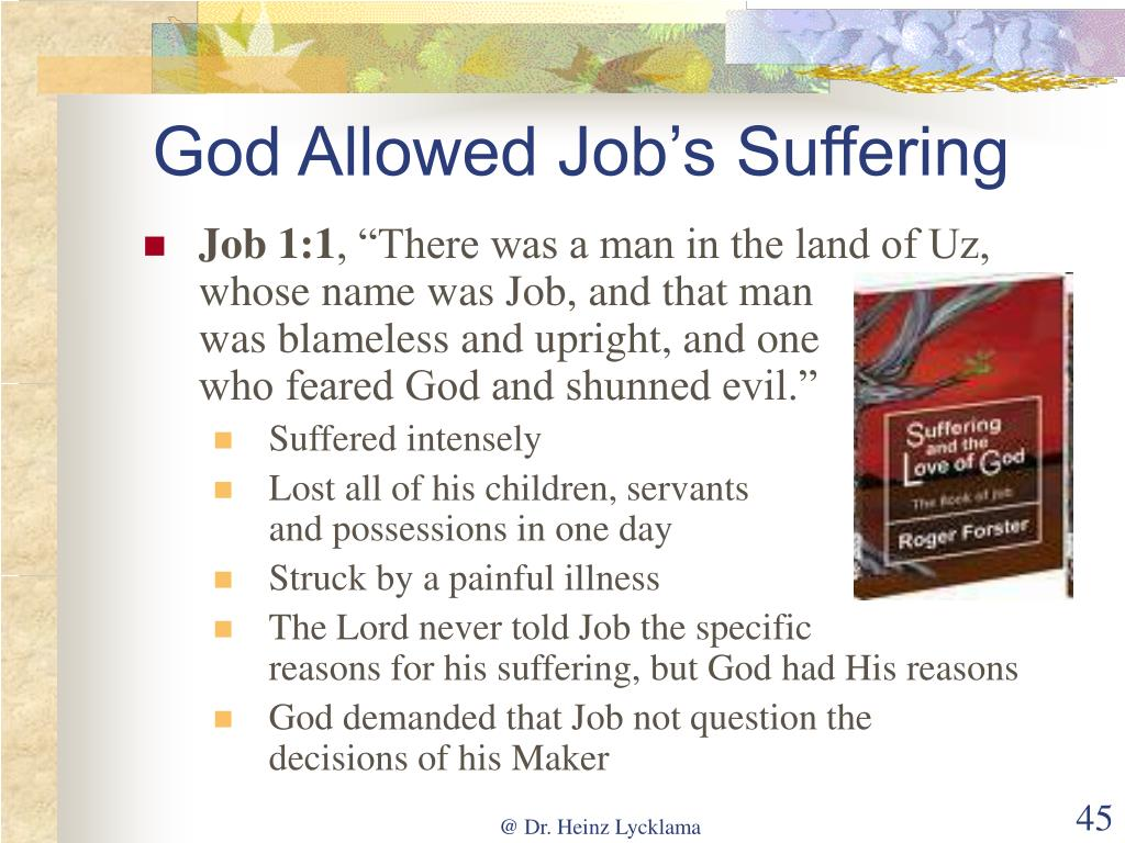God Allowed Job's Suffering