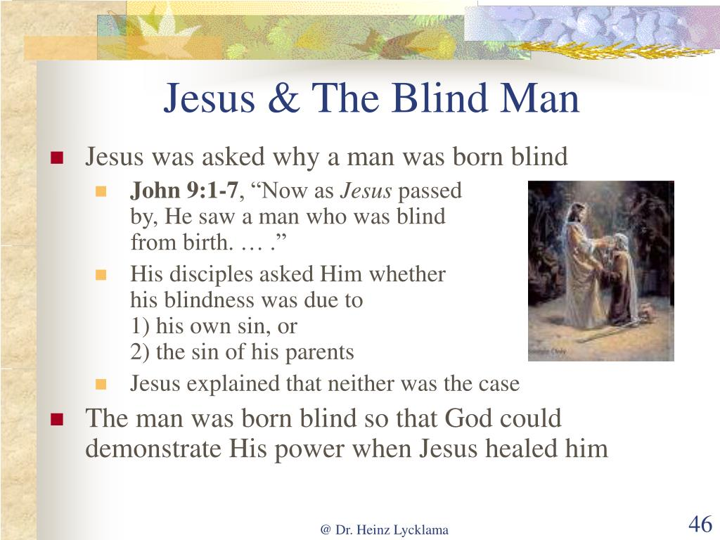 Jesus & The Blind Man
