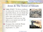 jesus the tower of siloam
