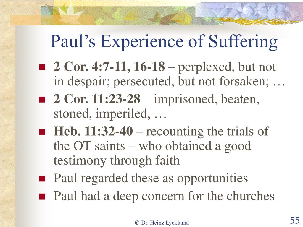 Paul's Experience of Suffering