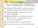 paul s experience of suffering