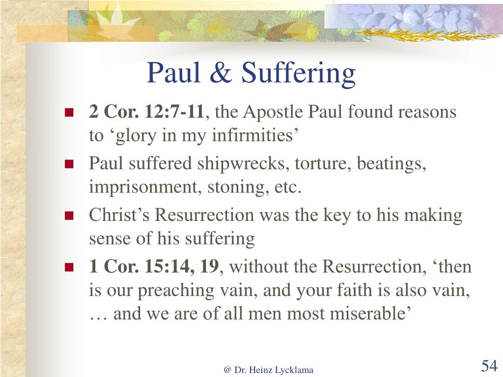 Paul & Suffering