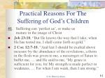 practical reasons for the suffering of god s children