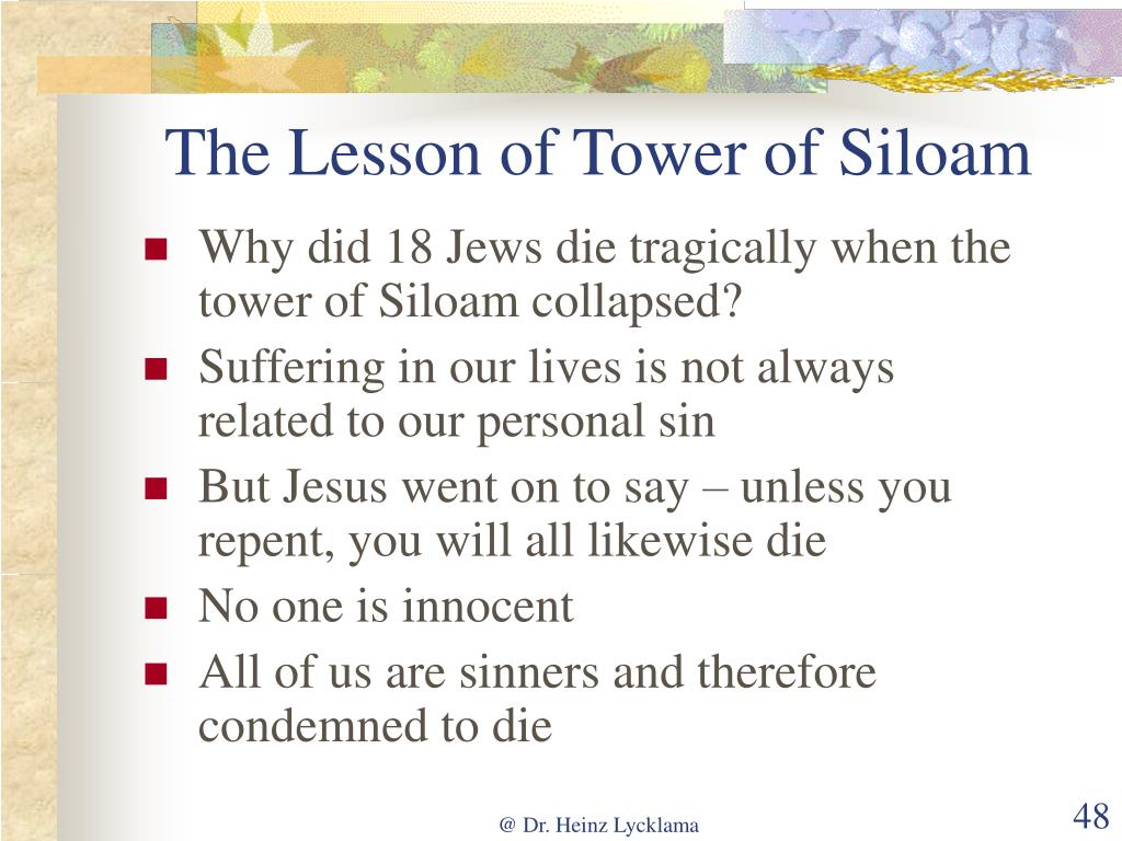 The Lesson of Tower of Siloam