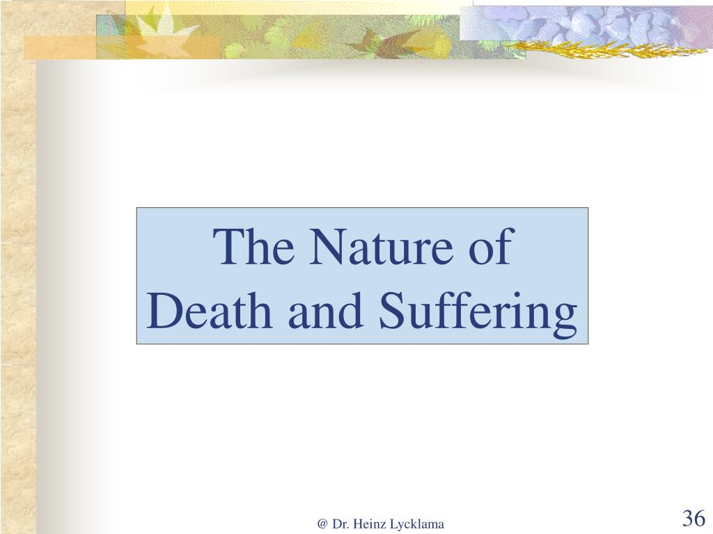 The Nature of Death and Suffering