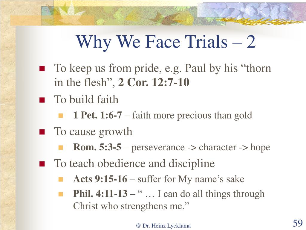 Why We Face Trials – 2