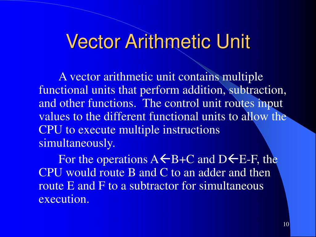 Vector Arithmetic Unit