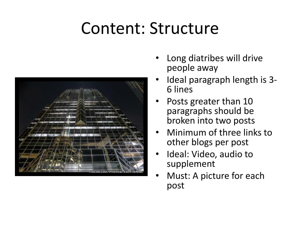 Content: Structure