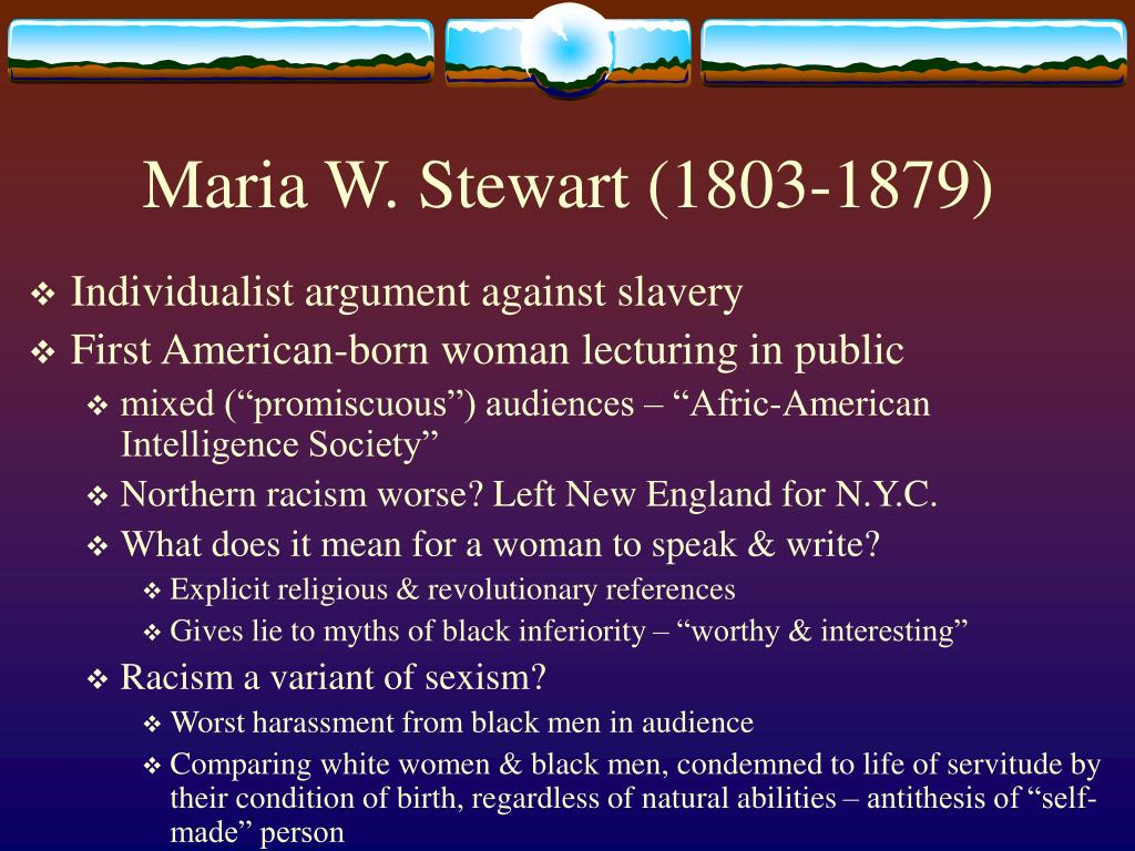 Maria W. Stewart (1803-1879)