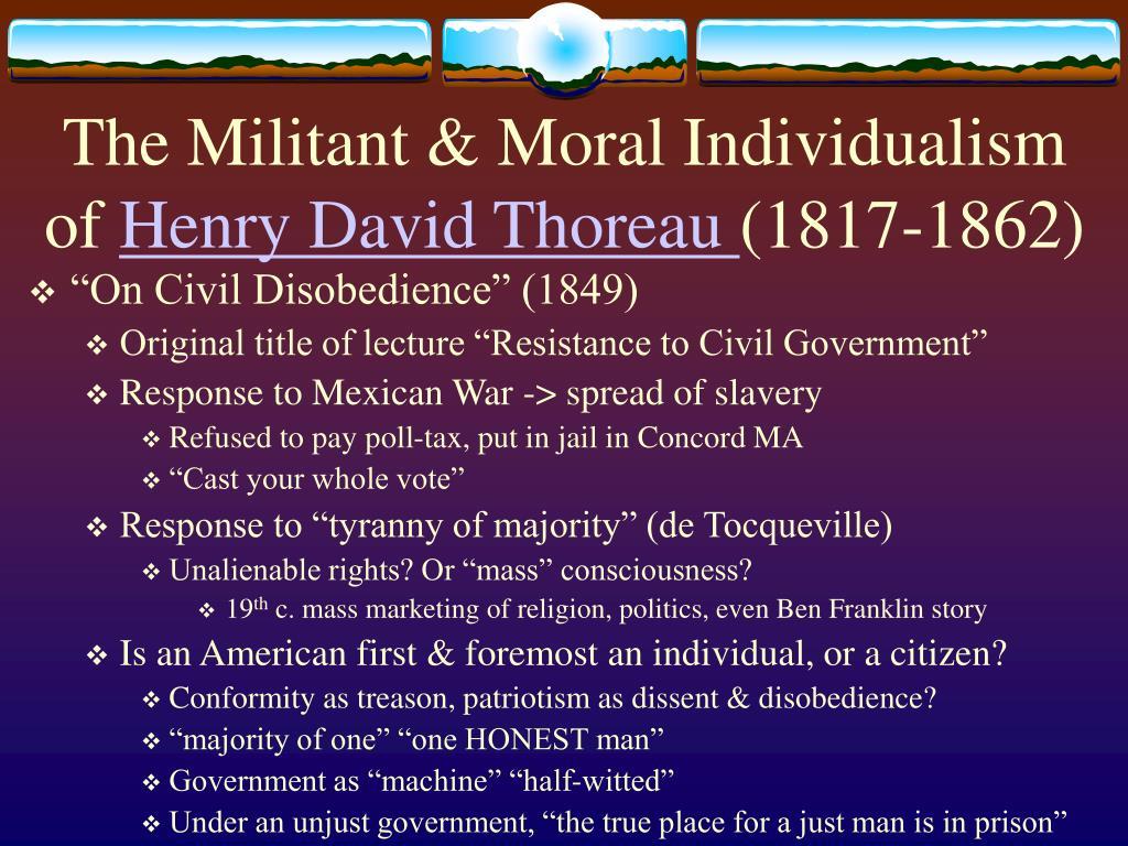 The Militant & Moral Individualism