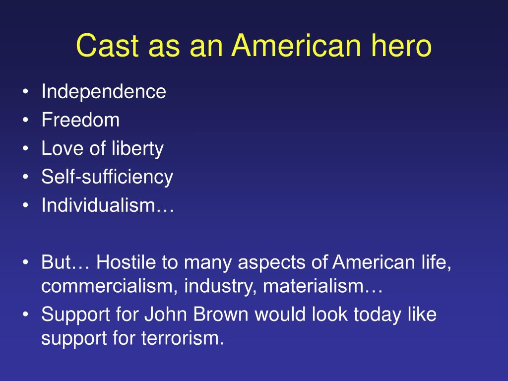 Cast as an American hero