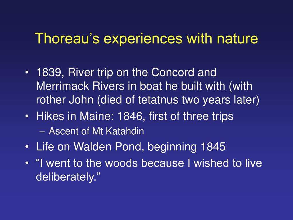 Thoreau's experiences with nature