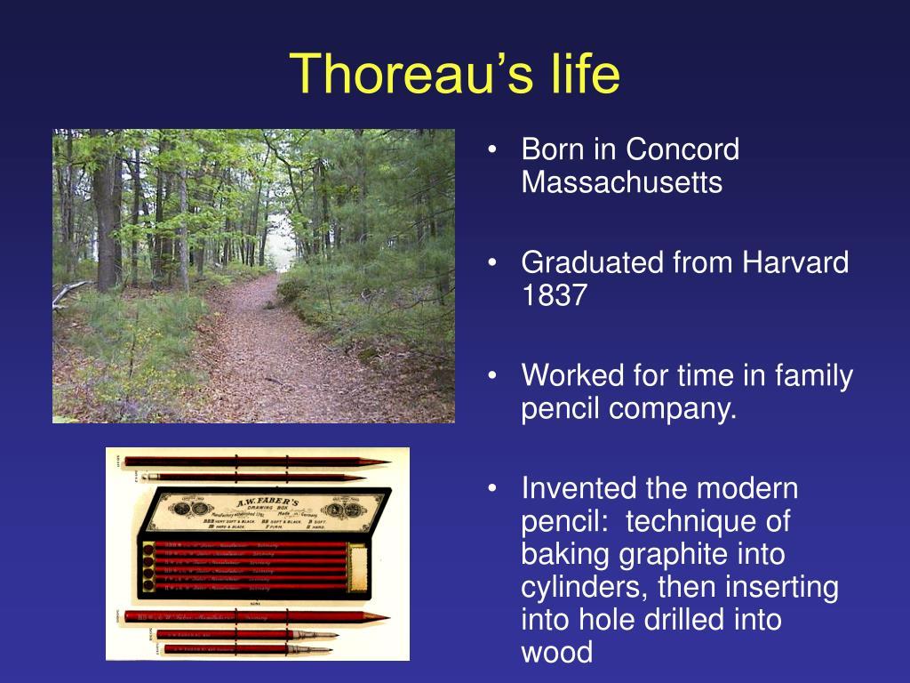 Thoreau's life