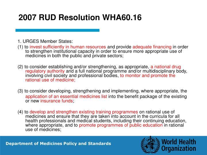 2007 RUD Resolution