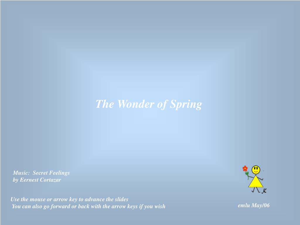 The Wonder of Spring